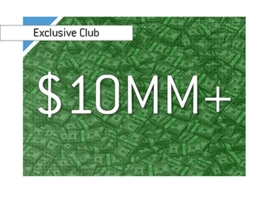 There is a new entry to the exclusive 10 million and plus all time cash earnings list.