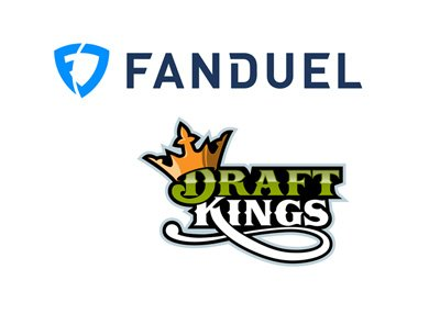 Merger of Fanduel and Draftkings presented as two company logos converging. Year is 2016.