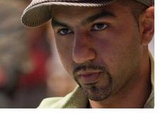 Faraz Jaka wearing a funky hat