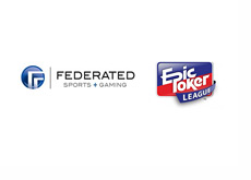 Federated Sports + Gaming logo and Epic Poker League logo
