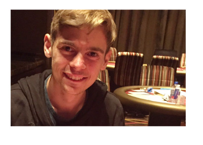 Fedor Holz - Social media photo - Twitter - Inside a casino, smiling