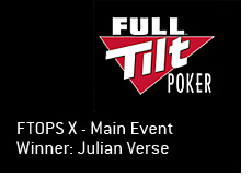 full tilt poker logo - ftops x winner - julian verse - main event