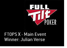 full tilt poker logo - ftops x winner - julian verse - main event