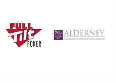Full Tilt Poker logo next to Alderney Gambling Control Commission logo
