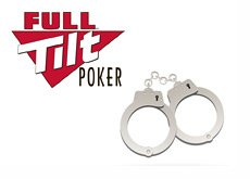 Full Tilt Poker logo next to a pair of cuffs