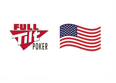 Full Tilt Poker logo next to the USA flag
