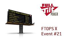 company logo - full tilt poker - ftops x event 21