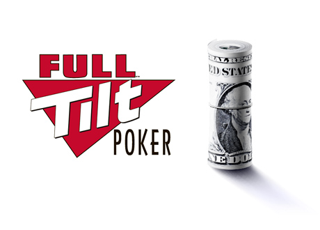 Full Tilt Poker Payment - Rolled Dollar Bills - Logo and Illustration