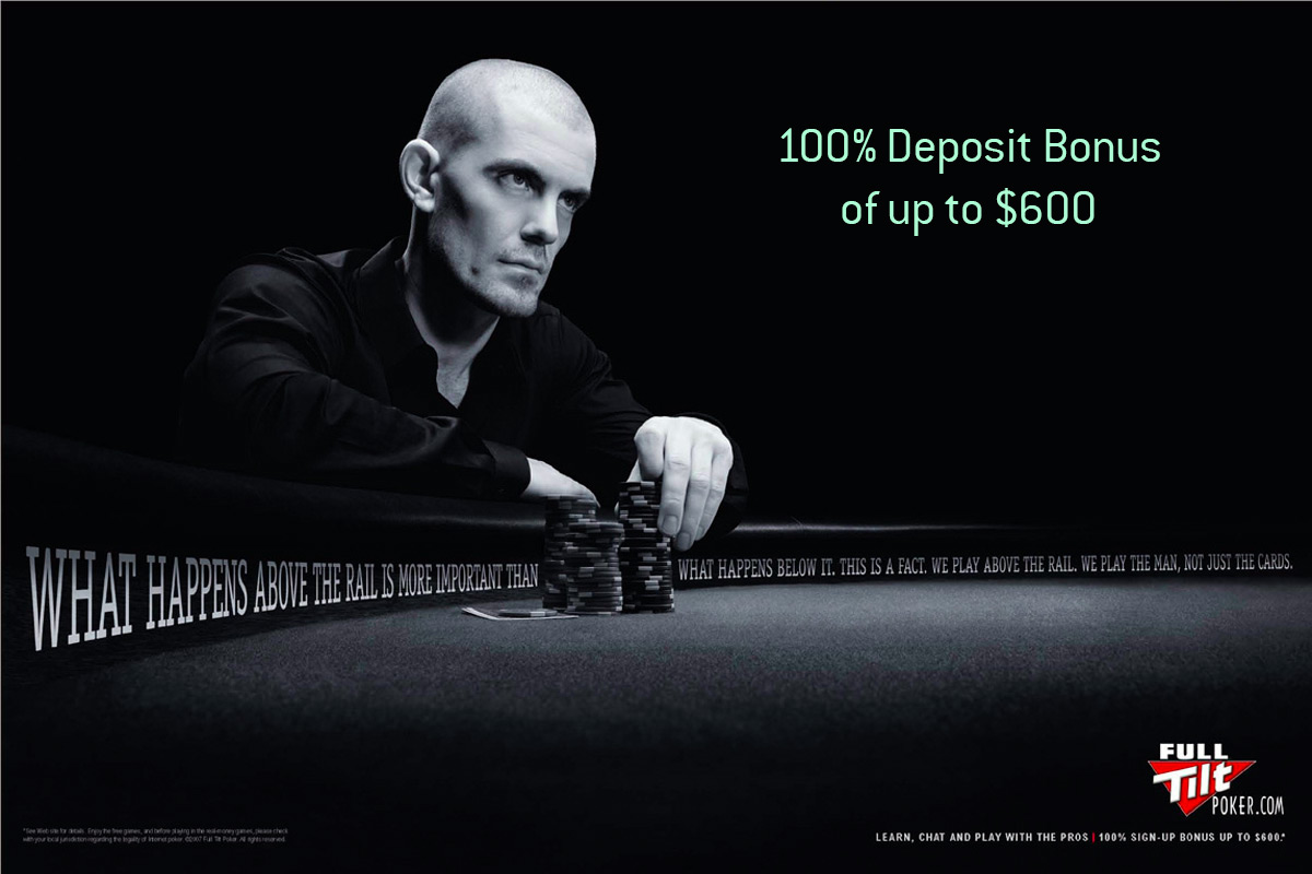 poker player gus hansen in a full tilt promotional ad - what happens above the rail...