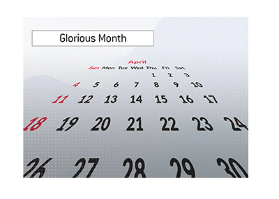 April of this year is a busy month for online poker players.
