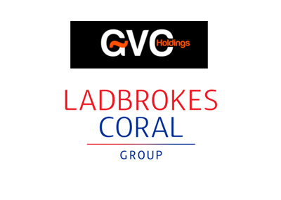 Company logos GVC Holdings - Ladbrokes Coral Group - Year 2017.
