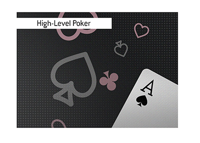 A high-level poker game is set to start.  A heads-up challenge.