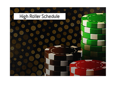 The high roller tournament schedule has been announced by the World Series of Poker for the year 2020.