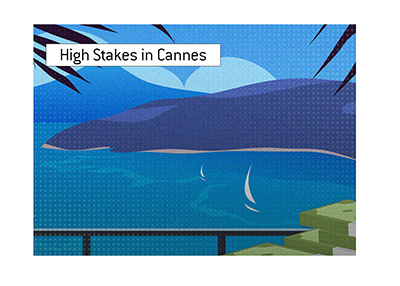 Cannes, France.  Illustration.  Many high profile poker games take place here.