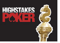 high stakes poker logo with the king stick