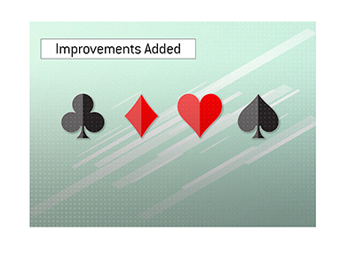 Software improvements have been added to the young poker site.