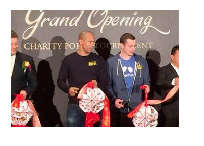 Phil Ivey and Tom Dwan at the Macau charity tournament - Year 2015