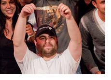 James Bord wins the World Series of Poker Europe 2010 - Holding the bracelet