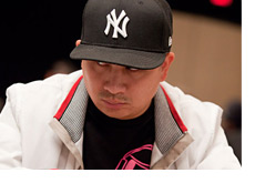 JC Tran giving that mean under his hat sideways look
