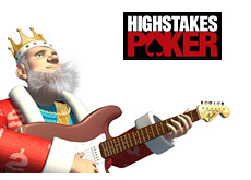-- Poker King is strumming sweet guitar chords on his fender stratocaster while looking at the High Stakes Poker logo and reviewing the latest episode --