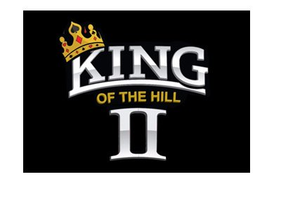 The King of the Hill II - Isolated logo on black background.