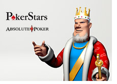 the king compares absolute poker and pokerstars