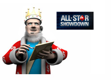 The King is reporting on the Pokerstars All Star Showdown latest
