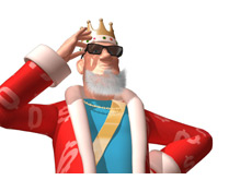 -- king wearing shades - congratulates Isildur1 from full tilt poker --