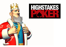 -- king and high stakes poker logo --