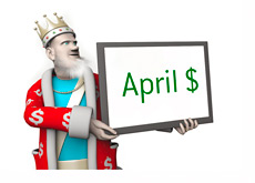 The King is reporting on the top April 2013 poker player earnings