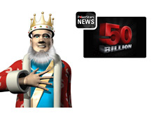 King reporting about the Pokerstars 50 Billionth Hand