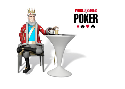 The King is sitting in a cafe and discussing the 2015 World Series of Poker final table