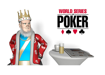 The King is sitting in a cafe discussing the latest from the World Series of Poker - WSOP - 2015