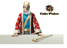 The King next to the Cake Poker logo