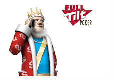 The King is on his mobile phone, receiving most recent news about Full Tilt Poker