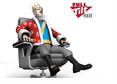 The King is sitting in his chari contemplating the Full TIlt Poker situation