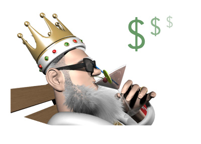 The King is chilling and reporting on the latest online poker games