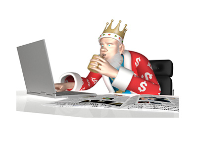 The King is reading the latest news about the potential William Hill / Amaya merger.  Intrigued.