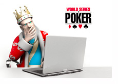 The King is on the Laptop Computer Reporting the Latest WSOP News