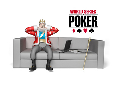 The King is relaxing on his two-seater couch, next to a laptop and talking about the 2016 WSOP final table