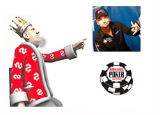 The King is pointing towards Daniel Negreanu Twitter Profile Photo
