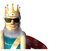 -- The King is observing the poker world through his dark sunglasses --