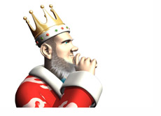 The King is thinking about the legalization of online poker