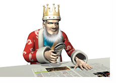 The King is researching the latest poker news