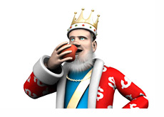 The King is eating his morning apple and updating the poker world about the latest developments in the industry