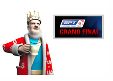 The King is drinking his tea and talking about the EPT Grand Final - Monaco