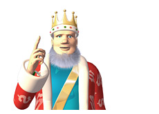 -- King offering his thoughts about the Durrrr challenge - Finger up in the air --