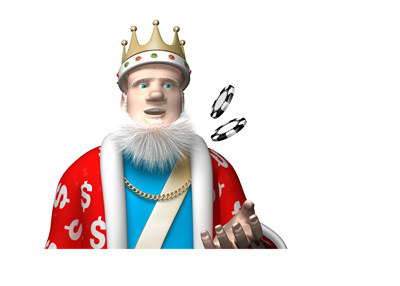 The Poker King is flipping couiple of casino coins while talking about Ted Forrest and his cheques without sufficient funds