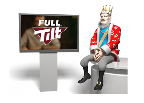 King is discussing the new Full Tilt Poker advertising campaign