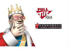 The King wearing Elvis sunglasses pondering the licensing of Full Tilt Poker by Kahnawake Gaming Commission